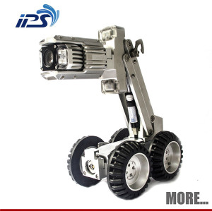 Self Level Sewer & Drain Pipe Inspection Camera Robot