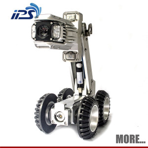 Pan and Tilt Pipe Inspection Crawler Robot With Manual Lift S100