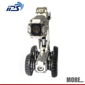 S100 sewer robotic crawler pipe plumbing water well inspection cctv camera rwith 625PTZ head camera
