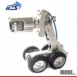 underwatre rov robotic pipe inspection crawler camera with high resoultion cctv camera shower