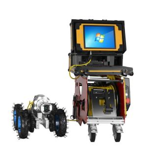Robot submersible cctv pipe inspection camera systems with pipeline diameter measurement