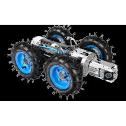 Robotic pan|tilt sewer pipe inspection camera for diameter 200mm-1500mm