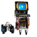 Robotic pan|tilt sewer pipe inspection camera for diameter 200mm-1500mm