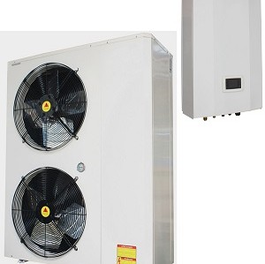 34kw 分体式超低温热泵空气能热水机