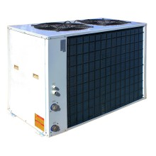 30~50kw Air to water swim pool heating heat pump with anticorrosive titanium tube heat exchanger