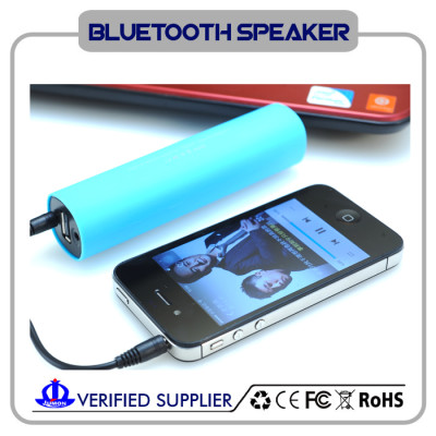 stylish bluetooth speaker with power bank & phone holder
