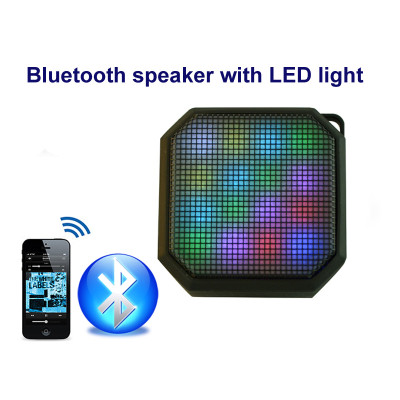 Bluetooth Speakers, Hi-Fi Portable Wireless Stereo Speaker with 11 LED Visual Modes and Build-in Microphone Support Hands-free Function, for iPhone 6s Plus,6s,Samsung,Tablets and More