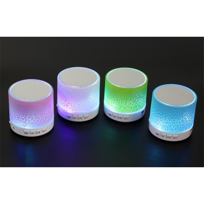 Colorful Lighting LED Glow Light Speaker Mini Portable Wireless Bluetooth Speakers with Handsfree Microphone Radio for phone