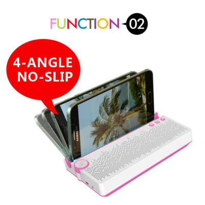 Portable Wireless speaker,2000 mAh Power Bank,Sbwoofer speaker up to 6 hours Playing time