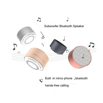2016 NEW Unique Design Subwoofer Metal Wireless Bluetooth Speaker With LED Light