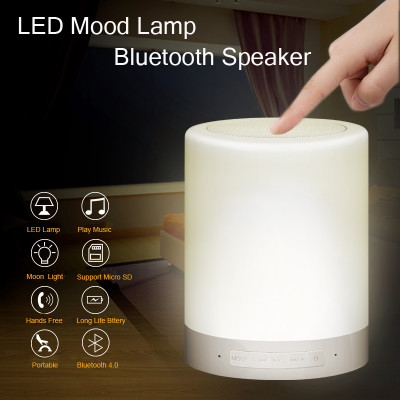 Newest Design Wireless Audio LED Lamp Bluetooth Speaker with LED Lamp