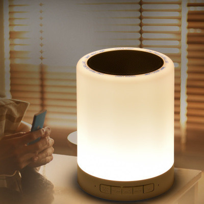New Outdoor Portable Wireless Speaker, Bluetooth 2.1 Smart LED Touch Lamp Bluetooth Speaker