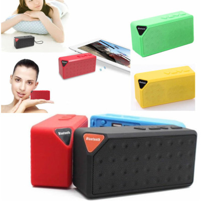MINI Bluetooth Speaker X3 Jambox Style TF USB FM Wireless Portable Music Sound Box Subwoofer Loudspeakers with Mic
