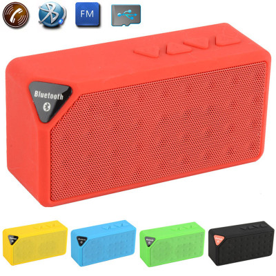 Wireless Portable MINI Bluetooth Speaker Music Sound Box X3 Jambox Style TF USB FMSubwoofer Loudspeakers For Mobile Phone