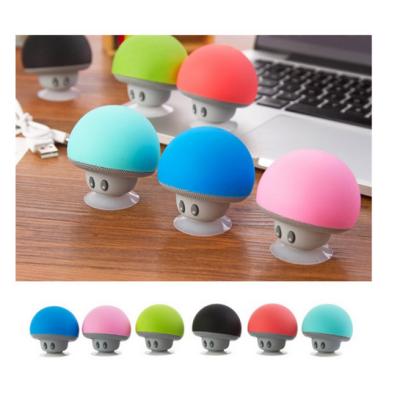 2016 Fashion Mini Portable Mushrooms Sucker Waterproof Wireless Bluetooth Speaker For Cellphone