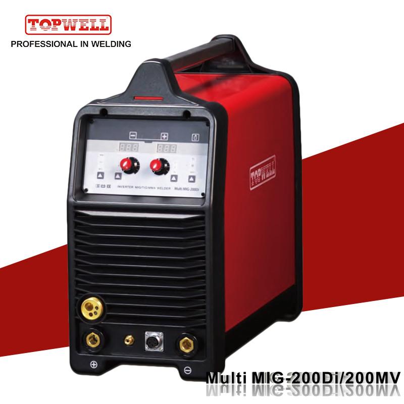 American Tough Inverter Tig Mig Mma Welding Machine Multi Mig 200di Topwell