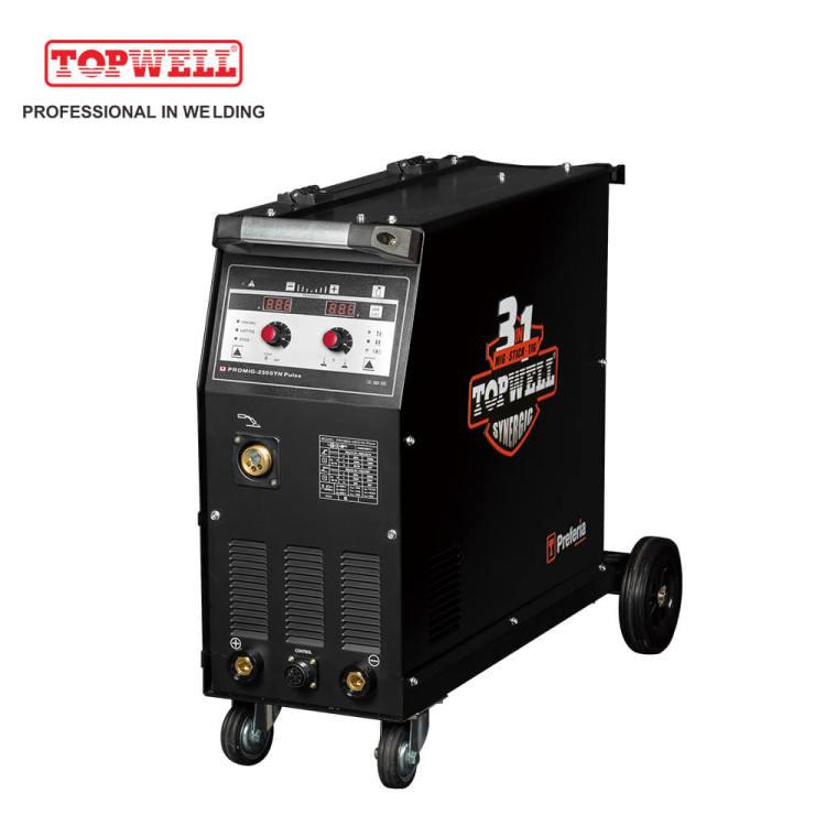 Compact welding machine mig welder double pulse PROMIG-250SYN PULSE