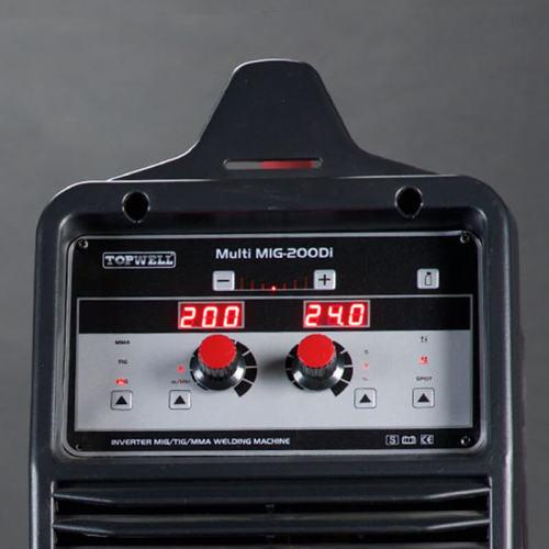 200amp หลายฟังก์ชั่น mig tig mma welders multi mig-200di