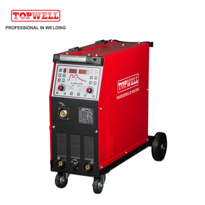 aluminium ALUMIG-300P gas protection mig welding machine with pulse