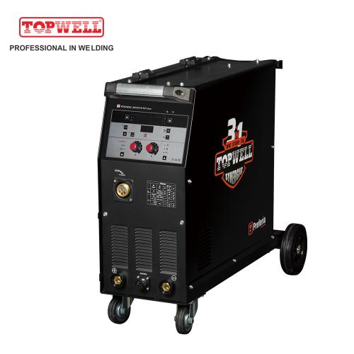 TOPWELL ARC Welder PROMIG-360SYN DPulse inverter mig welder 4 roles feeder Flux Welding Machine