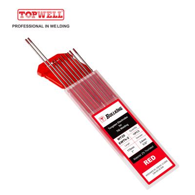 TIG Welding Tungsten Electrode 2% Thoriated (Red, WT20/ EWTh-2) 10-pk