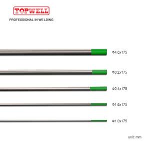 氩弧焊钨极纯钨(绿色,WP / EWP)10-pk