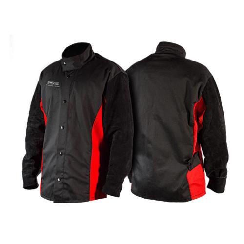 Premium Leather Sleeved Welding Jacket BK2102