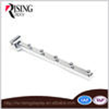 Square Pipe store fixture clothes hook for tube bar