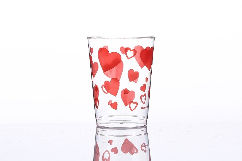 10 oz  Fiery heart printed cups