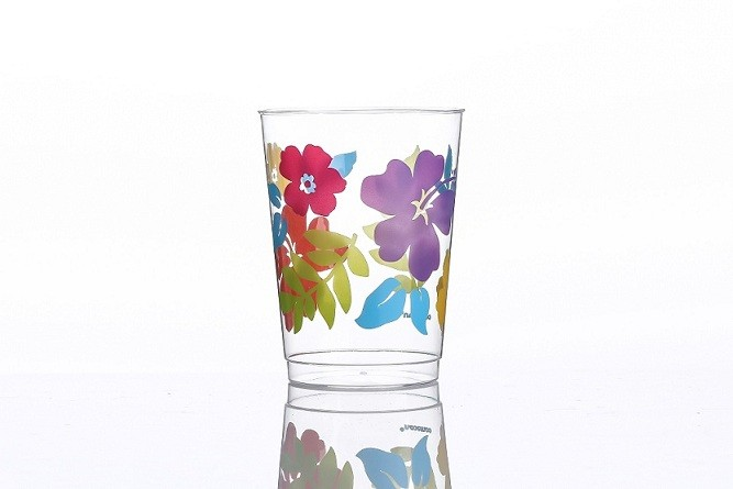 10オンスの大きな花の印刷カップ