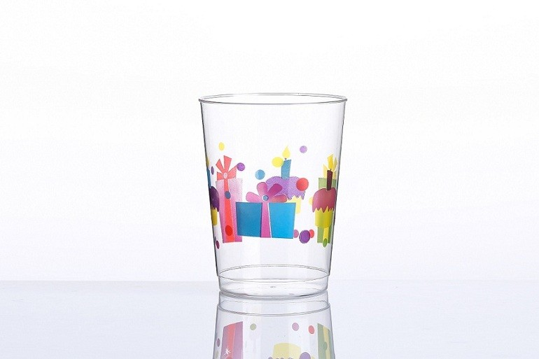 10oz Happy Birthday printing cups