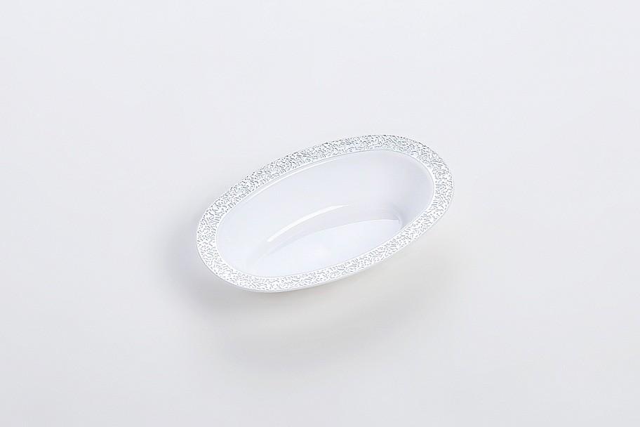 Bronzing Deep oval Plate