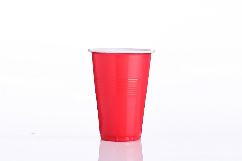Vasos de plástico de doble color de 16 oz
