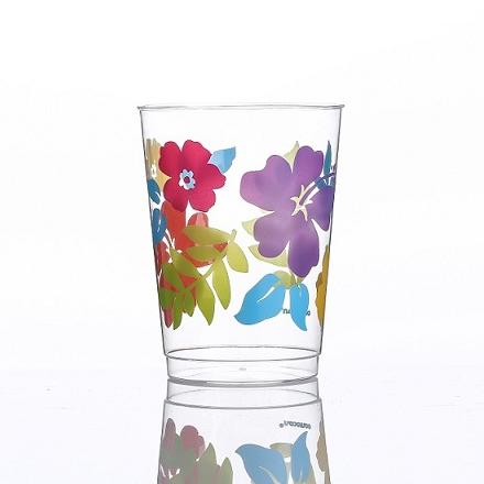 10oz 큰 꽃 인쇄 컵