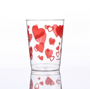 10oz Fiery heart printing cups