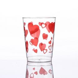 Vasos de impresión de corazón ardiente de 10 oz