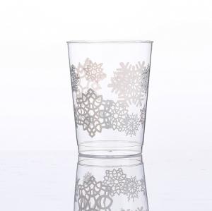 10oz snowflake printing cups