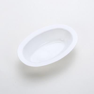 深い楕円形のプレート