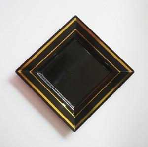 Bronzing  plastic square plate