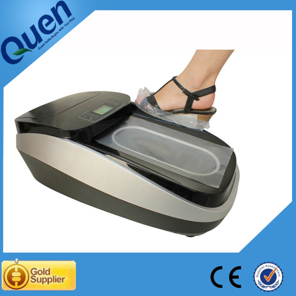 Automatic shoe cover dispenser with PVC film for gym