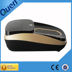 Thermal shrinkable shoe cover dispenser for spa