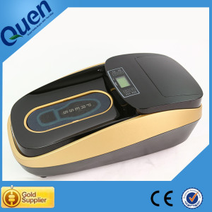 Auto shoe cover machine with shoe sole film