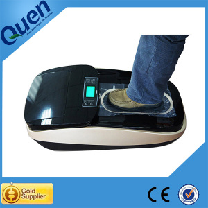 Plastic shoe cover dispenser for factory clean room