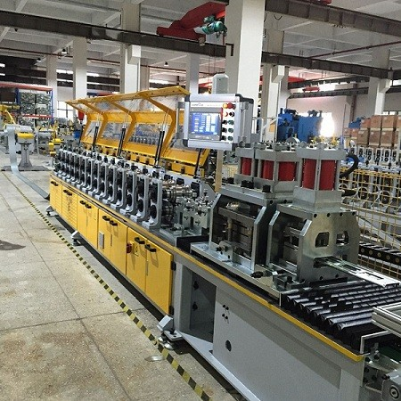 Shutter Slat With Small Windows Roll Forming Machine