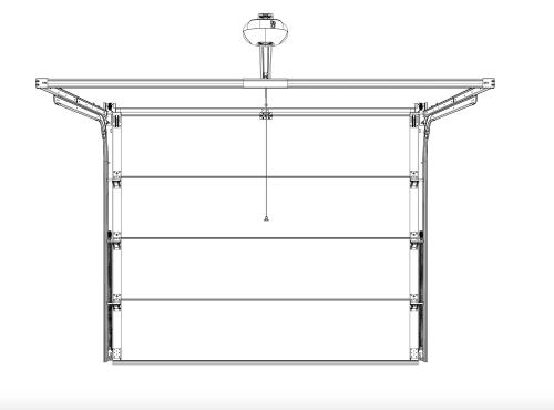 Sectional door hardware box