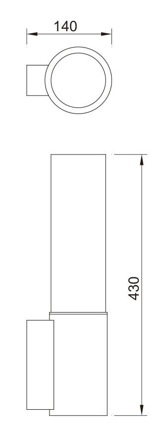 Wall lamp custom  outdoor light wall mouted light WD-B197 OEM stainless steel  Cree/Bridgelux Led module 6W/9W CFL 7~16W