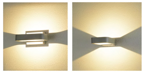 Wall lamp  custom outdoor wall mounted light modern design  square-ring shape up down left right light  LED 6W/9W/12W aluminum WD-B233