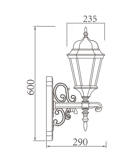 Wall lamp ourdoor wall light wall sconce E27 CFL16W~13W LED Ball lamp retro vintage european style WD-B181