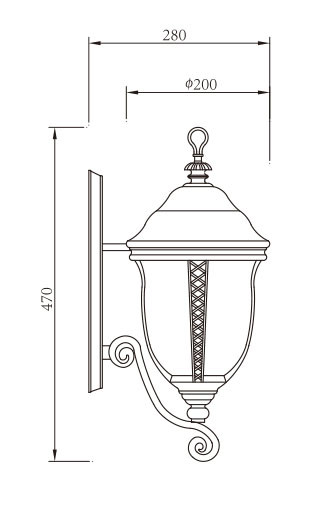 TFB Wall light custom non-standard outdoor wall mounted light wall luminaire LED ball lamps E27 CFL E27  european classical style aluminum/stainless steel PMMA/tempered glass diffuser WD-B332-A