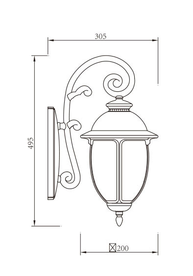 TFB Wall light custom non-standard outdoor wall mounted light wall luminaire LED ball lamps E27 CFL E27  european classical style aluminum/stainless steel PMMA/tempered glass diffuser WD-B331